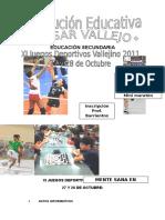 Xi Juegos Deportivos Vallejino 2011