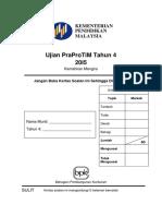 (BM) Ujian PraProTiM Tahun 4 (2015)