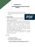 LABORATORIO Nº 4 Conexion de Transformadores Monofasicos en Red Trifasica