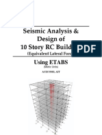 008 LEER ETABS Example RC Building Seismic Load Equivalent