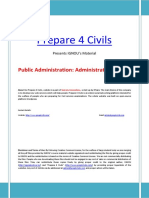 Public Administration Material Part 1 Administrative Theory