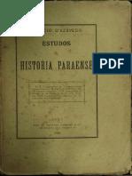 Estudos de História Paraense – João Lúcio d'Azevedo