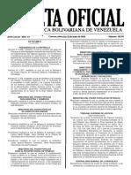 Gaceta Oficial Número 40.931 de la República de Venezuela, 22 de junio de 2016