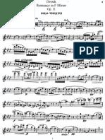 Romance Dvorak Violin and Piano Op 11.