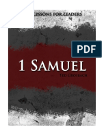 Life Lessons for Leaders--1 Samuel