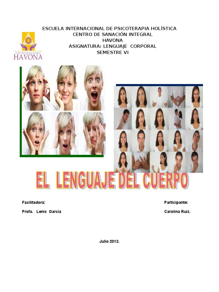 Trabajo Lenguaje Corporal Conceptos Psicologicos Psicología