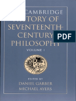 The Cambridge History of Seventeenth-Century Philosophy, Volume 1