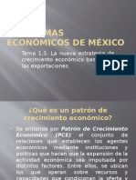 Tema 1.3. La Nueva Estrategia de Crecimiento Económico Basada en Las Exportaciones