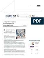 La Importancia de La Tecnologc3ada en Las Organizaciones