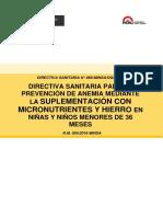 DIRECTIVA SANITARIA N° 068