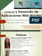 Diseño y Desarrollo de Aplicaciones Web Móviles