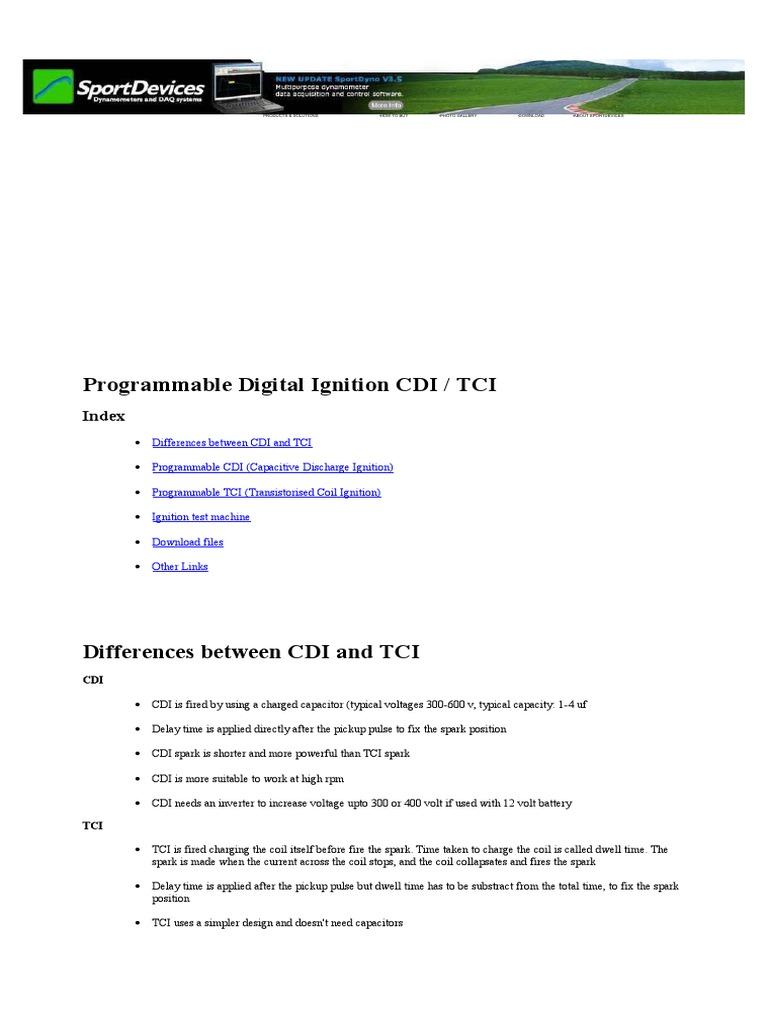 CDI Motos- Diagrama | Ignition System | Pic Microcontroller