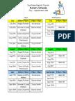 Nursery Schedule July - September
