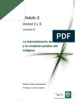 Lectura 6 - Administración de Justicia y Condición Jurídica Del Indígena