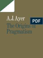 The Origins of Pragmatism