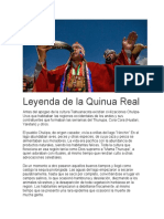 Origen de La Quinua