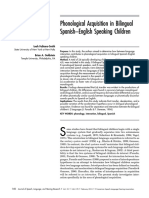 Phonological Acquisition in Bilingual Spanish–English Speaking Children