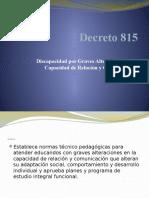 Decreto 815 ppt