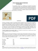 01 Estructura Química de Las Vitaminas y Minerales