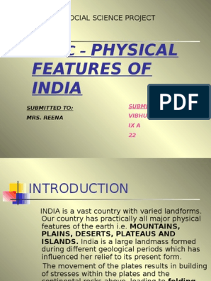 physical Features of INDIA ppt | Himalayas | Plate Tectonics