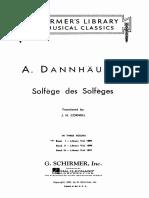 DANNHAUSER 1 método de solfeo