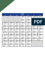 June 2016 Schedule