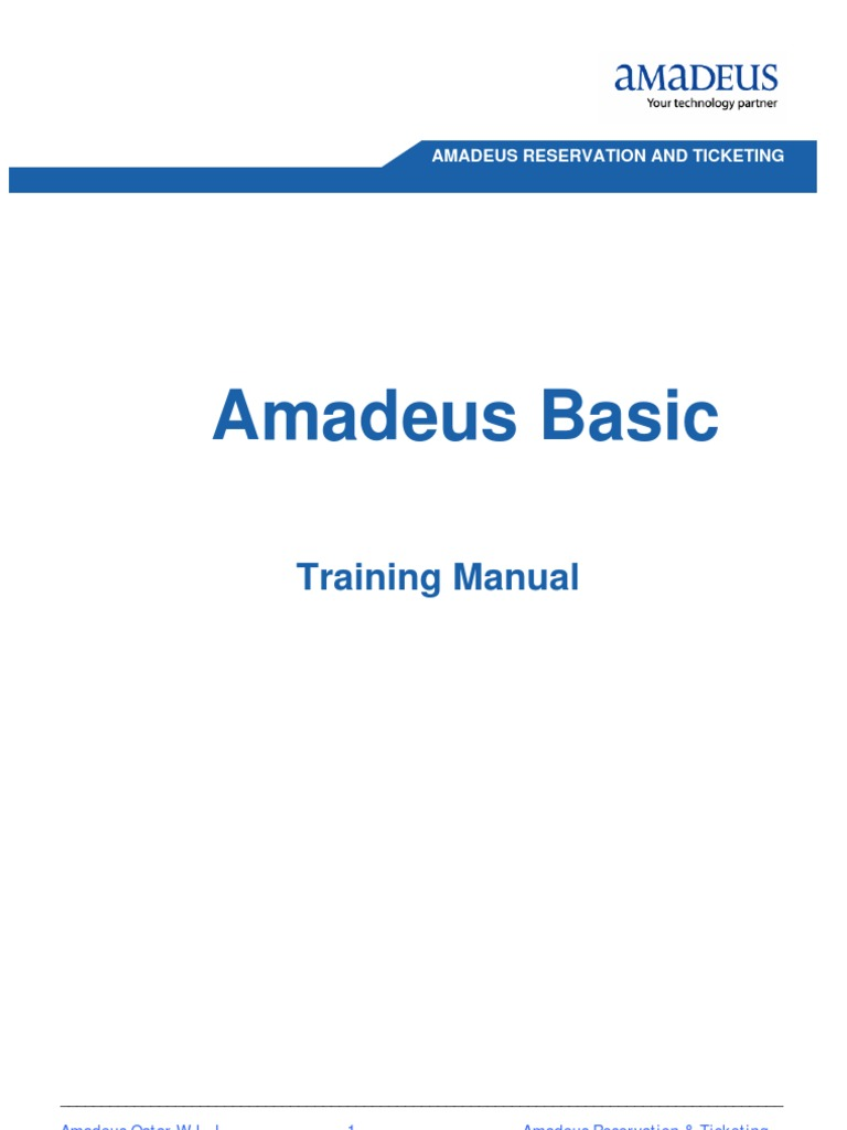 amadeus reservation and ticketing airlines windows vista rh scribd com Amadeus Selling Platform Installation Amadeus IT Group