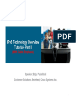 IPv6 Technology Overview Tutorial Part II Rev1