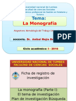 Ficha de Registro y La La Monografia Parte i Parte II