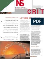 Article Verre Structurel