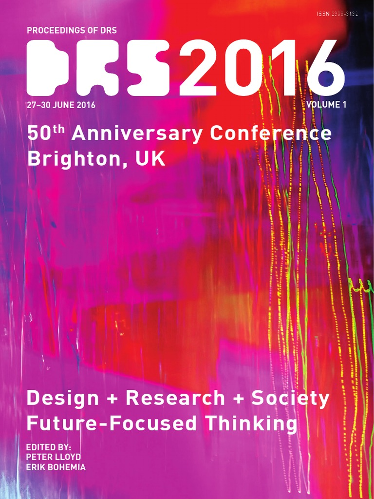 Proceedings Of Drs 2016 Volume 1 Institute Technology Aesthetics Reel Pioneer Fiery Fi 6500