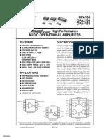 OPA2134 IC datasheet.