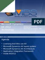 Microsoft Dynamics AX 2012 Technology
