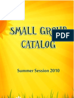 New Horizon Summer 2010 Small Group Catalog