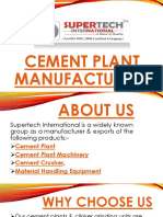 Cement Plant Manufacturers From India