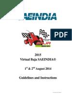 2015_Virtual Baja SAE India Guidelines