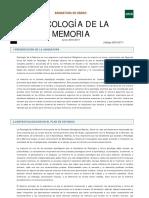 guia Psicologia de La Memoria 2017