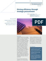 Driving Efficiency Through Strategic Procurement - January 2010