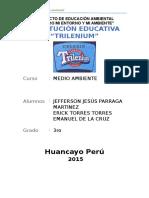 Proyecto Pedagógico Transversal Educación Ambiental