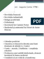 Reluare Comte + Durkheim