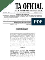 Gaceta Oficial Extraordinaria N° 6.232 - Notilogía
