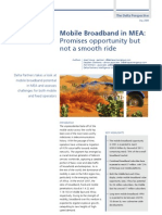 Mobile Broadband in MEA - May 2009