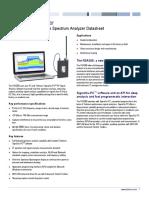 RSA306 USB Spectrum Anayzer Datasheet 1