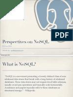 PostgreSQL and NoSQL