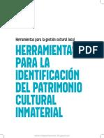 Herramientas Para Lam Iodentificacion Del Patrimonio Inmaterial
