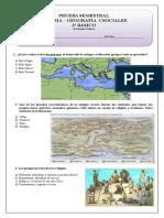 prueba semestral historia y geografia 3º  Básico