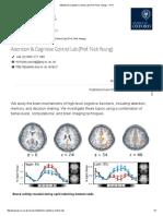 Attention & Cqfqfognitive Control Lab (Prof