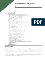 Cisco Guide to Harden Cisco IOS Devices