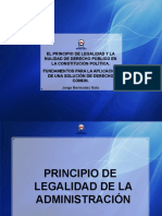 El Principio de Legalidad y La Nulidad de Derecho Público en La Constitución Política 2