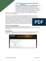 Animal Qualification Form User Manual